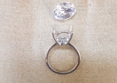 16. ring polished and ready for setting.