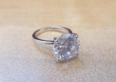 Large single stone ring