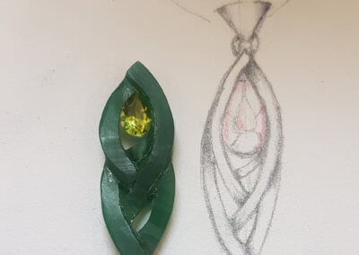 5. shaped wax with stone